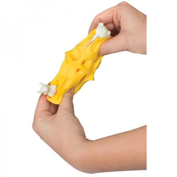 Stretchy Mice And Cheese TOYstretchy Mice And Cheese Stress Toystress Ballstretchy Mice And